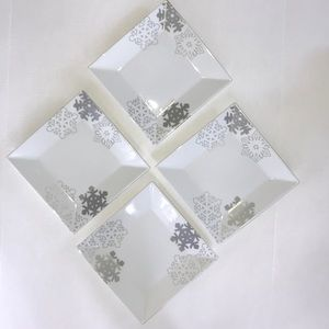 Food Network Snowflake Square Salad Plates
